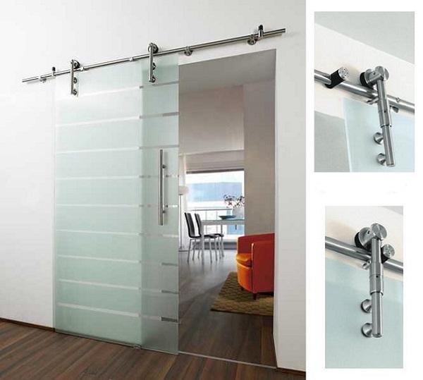2 loại cửa kính cường lực trượt treo thông dụng cho không gian nhà ở