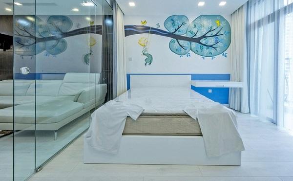 Đột phá với vách ngăn kính cho không gian phòng ngủ của bạn