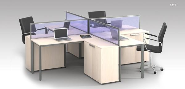 Vách ngăn bàn làm việc bằng kính siêu tiện ích cho văn phòng nhỏ